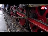 Уникальный ретро-поезд сделал остановку в Вологде