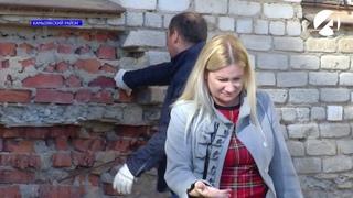 В Камызяке рушится многоэтажный дом