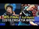 SHIBATA Saki JPN Vs SAMARA Elizabeta ROU WS FINAL 2018 CROATIA OPEN Full Match HD1080p60