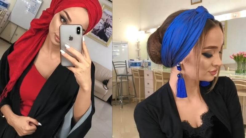 طرق سهلة لعمل حجاب توربان💕 لفات حجاب توربا