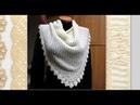 Вязание красивой ажурной шали на спицах