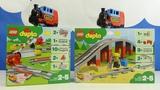 Строим из Lego Duplo, LEGO DUPLO 10882 Train Tracks рельсы, 10872 Train Bridge железнодорожный мост