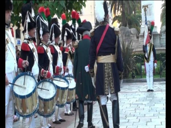 La relève de la garde Impériale à Ajaccio corse