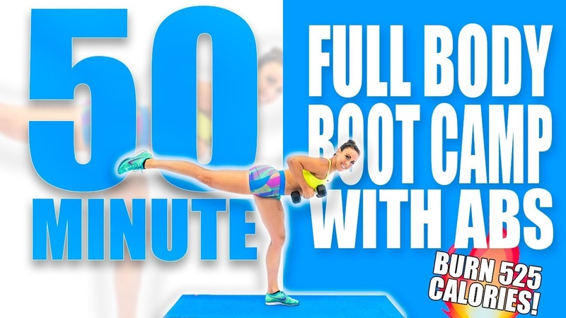 50 Minute Full Body Bootcamp with Abs Workout 🔥Burn 525 Calories! 🔥Sydney Cummings