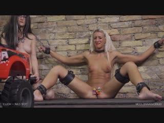 Toy car - holly (10.03.2018), queensnake, bdsm, bondage, torture, sadism, pee, rubber, speculum, whipping