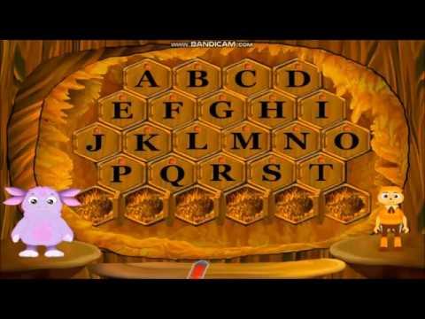Учим английский алфавит с Лунтиком и Пчелёнком