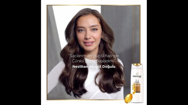 Pantene Türkiye в Instagram Neslihan Atagül Doğulu'nun şampuan saç kremi ve bakım etkisinin tek üründe olduğu Yeni Pantene 3'