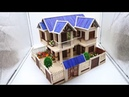 Building Popsicle Stick Mansion House - Popsicle Garden Villa - Architecture