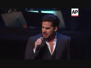 Adam Lambert performs onstage at the SAG-AFTRA Foundation's 3rd Annual Patron of the Artists Awards 08.11.2018