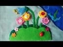 Мастер-класс №6. Цветы из фетра для развивающего коврика