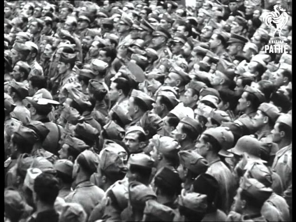 Roma Aka Mussolini Speaking To Massed Crowds In Rome (1936)