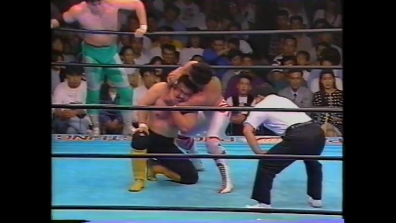 1993.10.02 - Toshiaki Kawada/Akira Taue/Masanobu Fuchi vs. Mitsuharu Misawa/Kenta Kobashi/Tsuyoshi Kikuchi