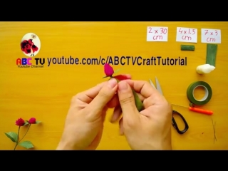 ABC TV _ How To Make Globe Amaranth Paper Flowers From Crepe Paper - Craft Tutor.mp4