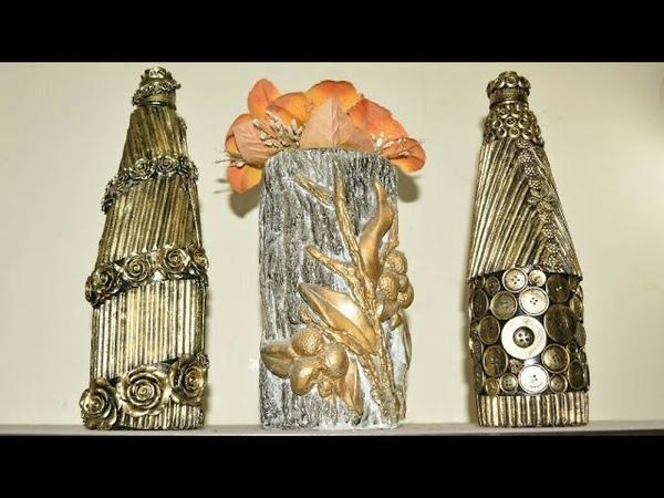Glass Bottle Craft Ideas DIY Glass Bottle Decoration Best Out Of Waste