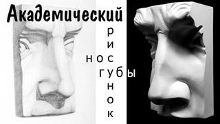 Как нарисовать лицо ► как рисовать нос, как рисовать губы