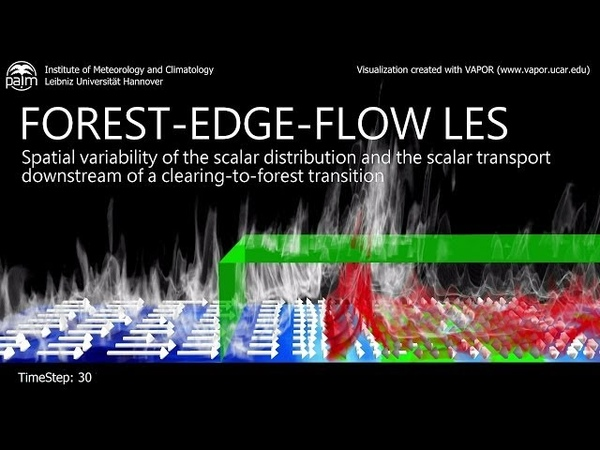 Large-Eddy Simulation of the Scalar Transport in a Forest-Edge Flow