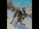 Охота на зайца.Собаки не оставляют шанса!\Hunting the hare. Dogs do not leave a chance!