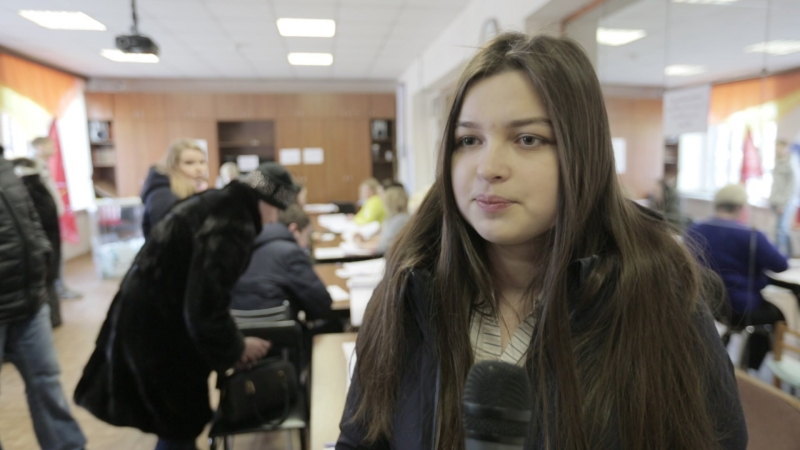 Впервые голосовали добровольцы из объединения «МОСТ».