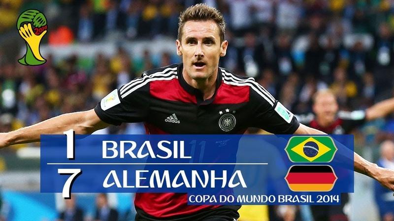 Brasil 1 x 7 Alemanha - melhores momentos (GLOBO HD 720p) Copa do Mundo Brasil 2014