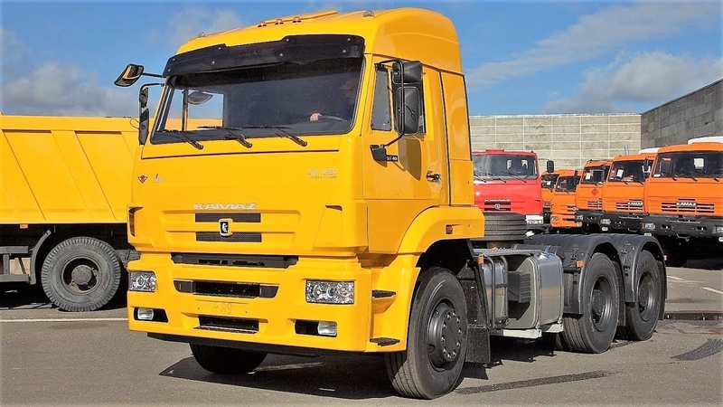 КАМАЗ 6460 26011 (аналоги МАЗ 6430Р9, МАЗ-MAН 6425) - седельный тягач 400 л.с., полуприцеп 52 т.