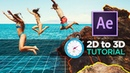 How to Animate 2D Photos in 3D EASY ! - After Effects VoluMax TUTORIAL