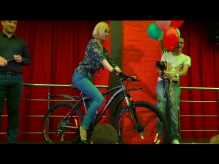 Ольга Куц рассказывает как выиграть велосипед.