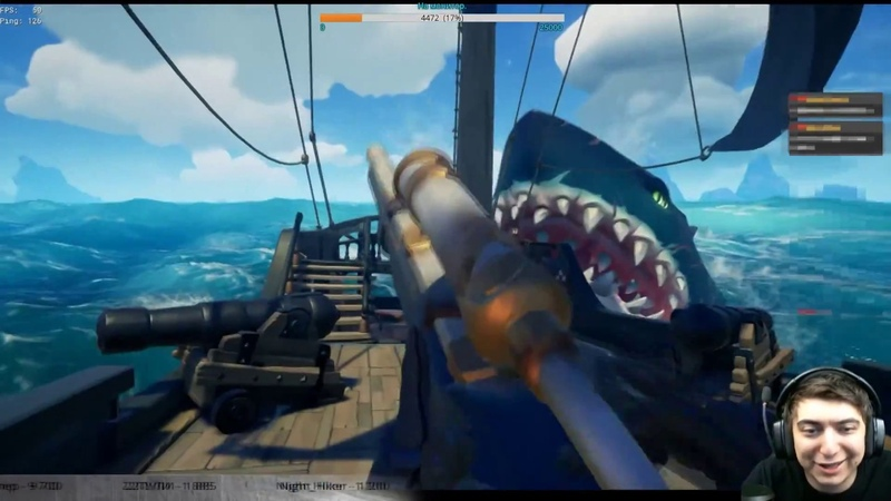 Megalodon cookie om nom nom Funny! Sea of Thieves.