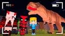 ДЕТИ И УРОК ДИНОЗАВРОВ В ЗООПАРКЕ! ШКОЛА МОНСТРОВ МАЙНКРАФТ ~ KIDS 16 ТРОЛЛИНГ ПРО Monster School