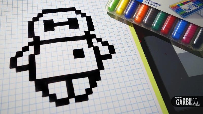 Handmade Pixel Art - How To Draw BayMax from Big Hero 6 pixelart