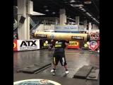 Люк Херринг (США), бревно - 200 кг, SCL - FIBO - 2018