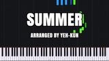 Summer - Joe Hisaishi Piano Tutorial (Synthesia) Yeh-Kun