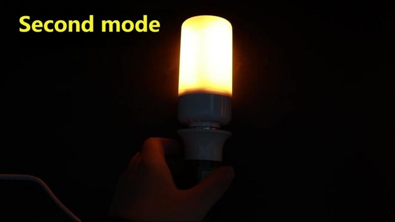 Лампа, имитирующая огонь