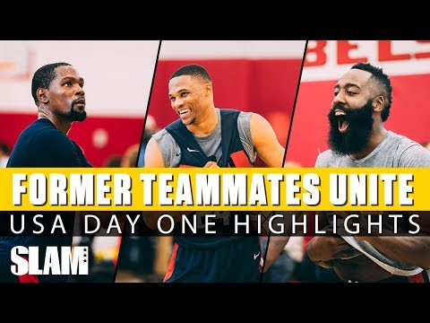 Kevin Durant, Russell Westbrook, James Harden WORK IT at Team USA Camp | Day 1 SLAM Highlights