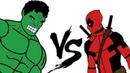 ХАЛК vs ДЭДПУЛ Битва супергероев Анимация Hulk vs Deadpool