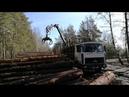 Гидроманипулятор для леса АТЛАНТ на МАЗ 6303А8