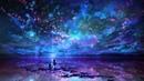 Картинка космос Силуэты парень девушка звёзды вселенная Eneo la picha Silhouettes kijana