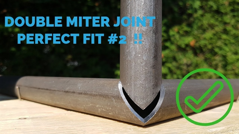 Double miter corner joint 2 round tube [ HOW TO ]
