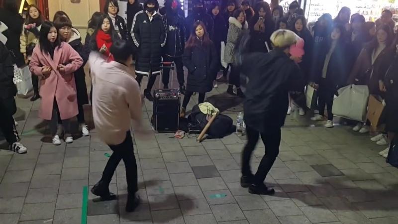 [댄스팀☆4TEN☆포텐]CHRIS BROWN ☆SEX☆ COVER 홍대버스킹 20171221목 [HONGDAE KPOP STREET DANCE]