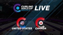 United States v Canada Women Curling World Cup second leg Omaha United States
