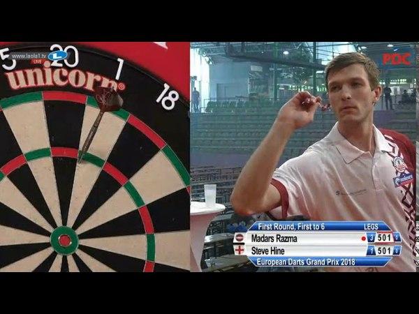 2018 European Darts Grand Prix Round 1 Razma vs Hine