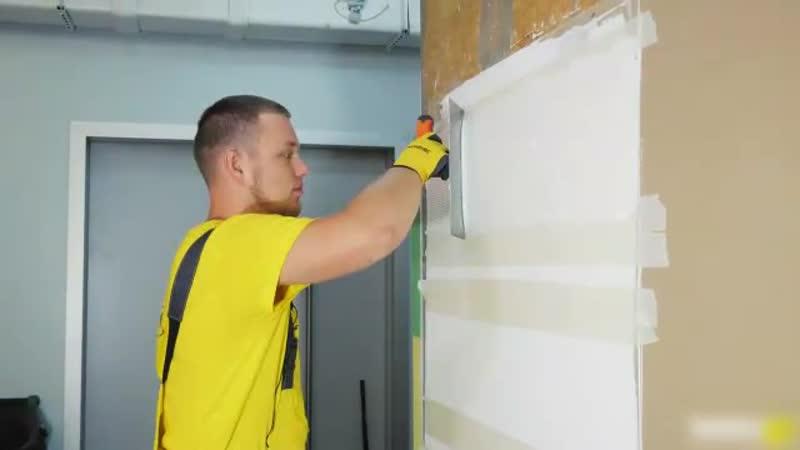 Имитация фактуры дерева на стене из шпатлевки