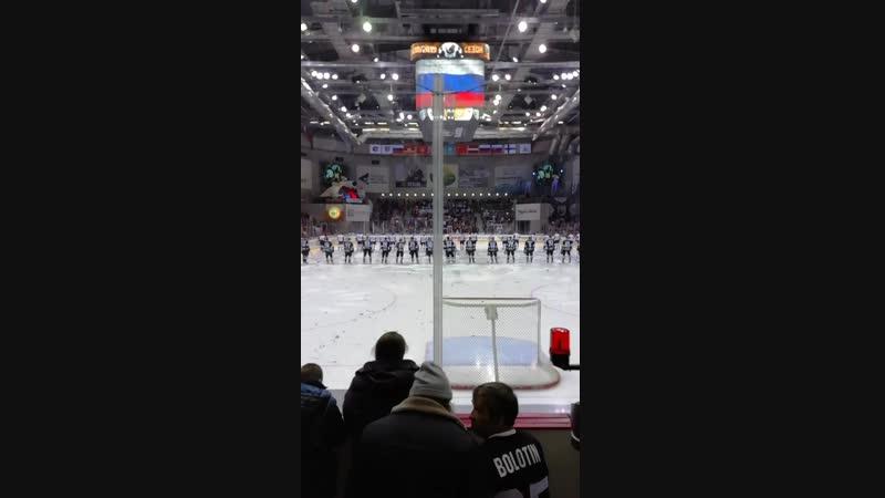 ХК Трактор - ХК Авангард, звучит гимн РФ.