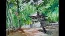 Choe SSi art studio/ landscape of korean temple최병화수채水彩畵 화/수채풍경화(홍룡사)