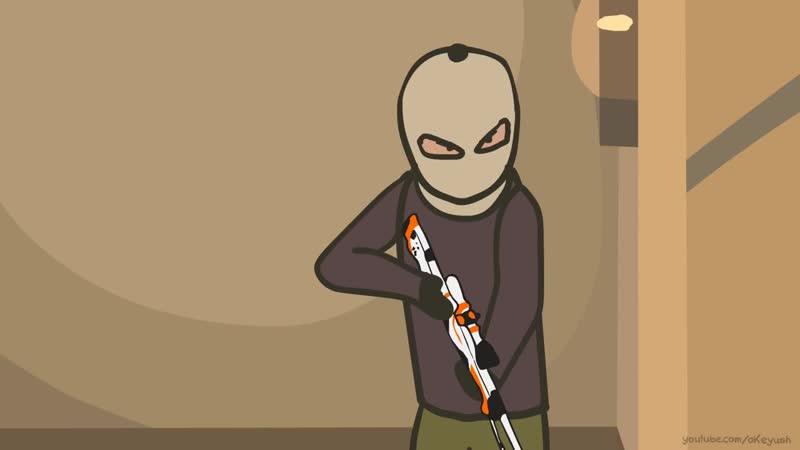 Анимация по игре CS-GO: Cartoon. Episode 4 DE_mirage