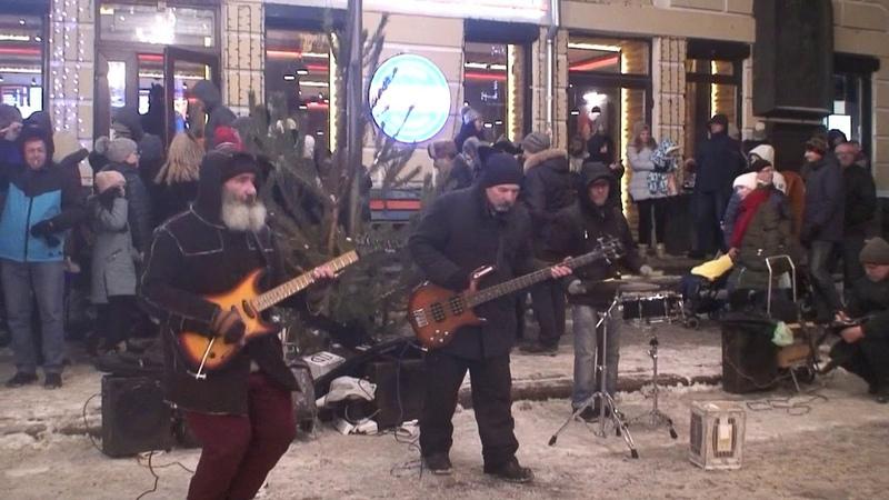 Новогодний вечерний Киев Концерт на Подоле