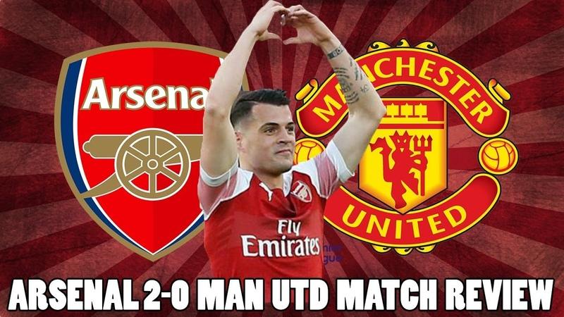 Arsenal 2 0 Man Utd Match Review Xhaka Aubameyang Score For Arsenal