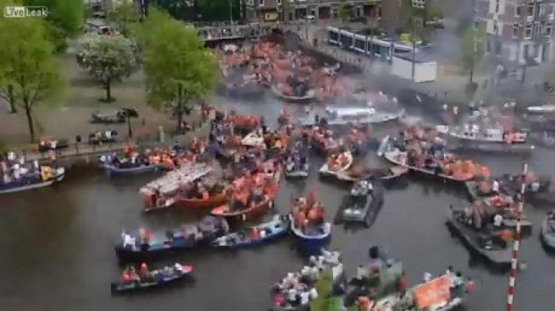 пробка в Амстердаме