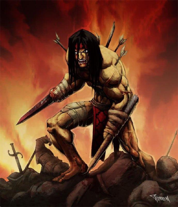 Воин с отрублеными руками