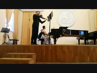 И. Брамс. Соната f-moll. Исп. Анастасия Тимонина, Ярослав Бычков.
