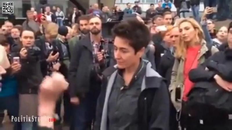 Chemnitz: Dunja Hayali (VOLKSVERRÄTERIN ERSTER GÜTE) bekommt von Bürgern die Wahrheit um die Ohren gehauen